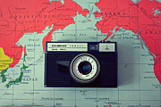 Vintage Map Photos - The Pacific by Lost In The Valley Photography