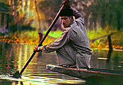 Muslim Digital Art Posters - The Paddler Poster by Steve Harrington