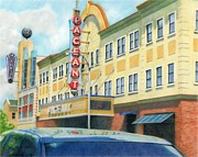 City Scene Drawings - The Pageant by Susie Tenzer