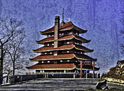 Berks Framed Prints - The Pagoda Framed Print by Trish Tritz