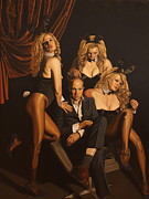 Playboy Bunny Prints - The Painter and his Graces Print by Sierk Van Meeuwen