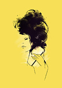 Hair Digital Art Prints - The painter Print by Budi Satria Kwan