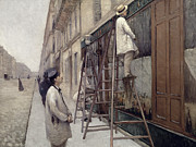 Ladder Paintings - The Painters by Gustave Caillebotte
