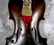 Violin Prints - The Painting  Print by Steven  Digman