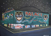 Asbury Park Amusements Painting Originals - The Palace at Night by Patricia Arroyo