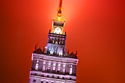 High Tower Metal Prints - The Palace of Culture and Science Warsaw Poland  Metal Print by Michal Bednarek