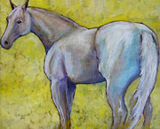 Gray Horse Prints - The Pale Horse Print by Carol Jo Smidt