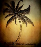 Abstract Landscape Pastels - The Palm Tree by Amanda Struz