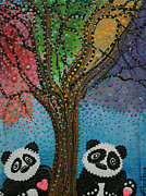 Panda Bear Paintings - The Panda Tree by Laura Barbosa