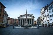 Pantheon Framed Prints - The Pantheon in Rome Framed Print by Matteo Colombo
