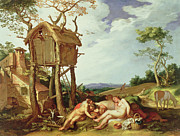 Doves Paintings - The Parable of the Wheat and the Tares by Abraham Bloemaert