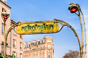 Metropolitain Framed Prints - The Paris Metro - Classic Art Nouveau Framed Print by Mark E Tisdale