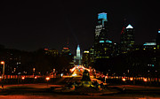 Art Museum Prints - The Parkway at Night Print by Bill Cannon