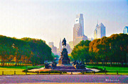 Franklin Metal Prints - The Parkway Metal Print by Bill Cannon