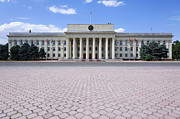 Kyrgyzstan Photos - The Parliament Buildings in Bishkek Kyrgyzstan by Robert Preston