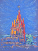 Magazine Pastels - The Parroquia by Marcia Meade
