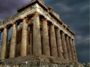 Athens Framed Prints - The Parthenon Framed Print by David Bearden