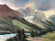 Mountains Paintings - The Pass by Kris Parins