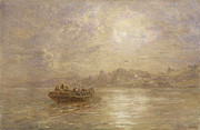 Row Boat Framed Prints - The Passing of 1880 Framed Print by Thomas Danby