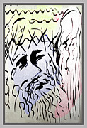Life Of Christ Drawings Prints - The Passion 6 Print by Guy Ciarcia