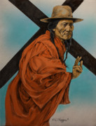 Lakota Paintings - The Passion  by Derrick Higgins