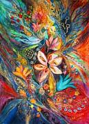 The Passion Of Flowering Print by Elena Kotliarker