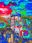 Vibrant Color Art - The Pastoral Dreamscape 20130730m68 by Wingsdomain Art and Photography