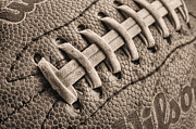 Football Closeups Posters - The Path BW Poster by JC Findley