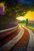 Iron Pastels Prints - The Path Print by John  Foster