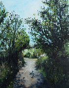 Pathway Paintings - The Path Not Taken by Janel Acheson