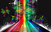 Shirt Digital Art Originals - The Path Of Righteous by King David