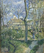 Pissarro Prints - The Path to Les Pouilleux Pontoise Print by Camille Pissarro