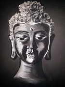 Buddha Sketch Prints - The Path Print by Vidya Vivek