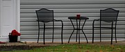 Patio Table And Chairs Posters - THE PATIO in LIVING COLOR Poster by Rob Hans