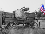 Wooden Wagons Photo Framed Prints - The Patriot Framed Print by Ann Powell