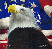 Bald Eagles Posters - The Patriot... Poster by Will Bullas