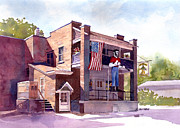 Mascot Painting Metal Prints - The Paul Bunyan Hotel Metal Print by Kris Parins