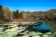Silk Water Prints - The Payette River Print by Robert Bales