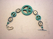 Blue Jewelry - The Peace Tree Bracelet by Bonnie Harper
