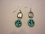 Blue Jewelry - The Peace Tree Earrings by Bonnie Harper