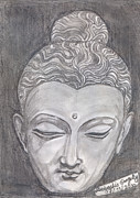 Buddha Sketch Posters - The Peacemaker Poster by Debashis Ganguly