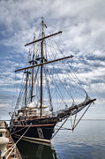 Wooden Ship Posters - The Peacemaker Tall Ship Poster by Dale Kincaid