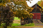 Old Country Roads Prints - The Peacham Barn Print by Lyn Scott