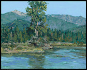 Scotchman Painting Posters - The Peak From Johnson Creek Poster by Diana Moses Botkin