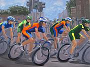 Jerseys Prints - The Peloton Print by Karen Ilari