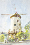 Elaine Teague Framed Prints - The Penny Royal Windmill Framed Print by Elaine Teague