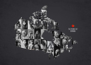 The People Of Canada Print by Aged Pixel