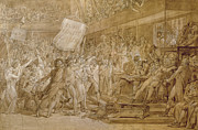 Revolution Drawings - The People of Paris Storm the Tuileries by Francois Pascal Simon Gerard
