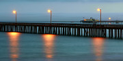 Evening Scenes Photos - The Peoples Pier by Nikolyn McDonald