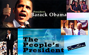 Sasha-obama Framed Prints - The Peoples President Still Framed Print by Terry Wallace